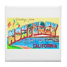 Monterey California Greetings Tile Coaster