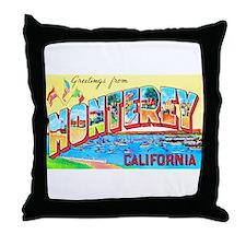 Monterey California Greetings Throw Pillow
