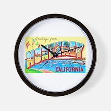 Monterey California Greetings Wall Clock