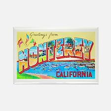 Monterey California Greetings Rectangle Magnet