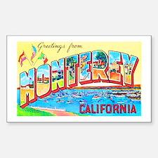 Monterey California Greetings Sticker (Rectangle)
