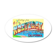 Monterey California Greetings 35x21 Oval Wall Deca