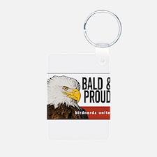 "Bald Eagle ""Bald & Proud"" Keychains"
