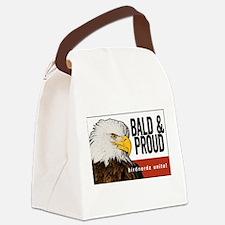 """Bald Eagle """"Bald & Proud"""" Canvas Lunch Bag"""
