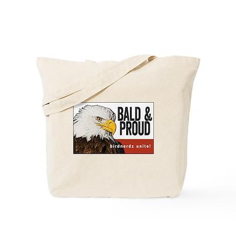 "Bald Eagle ""Bald & Proud"" Tote Bag"