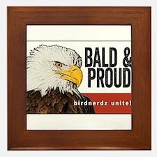 """Bald Eagle """"Bald & Proud"""" Framed Tile"""