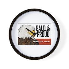 "Bald Eagle ""Bald & Proud"" Wall Clock"