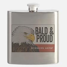 """Bald Eagle """"Bald & Proud"""" Flask"""