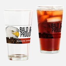 "Bald Eagle ""Bald & Proud"" Drinking Glass"