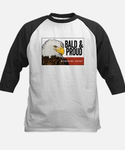 "Bald Eagle ""Bald & Proud"" Kids Baseball Jersey"