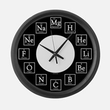 Cute Periodic table Large Wall Clock
