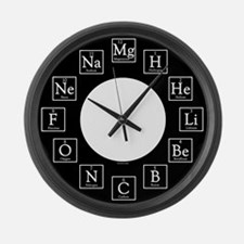 Unique Chemistry nerd Large Wall Clock