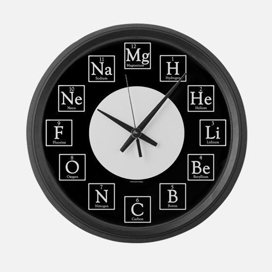 Cute Science geek Large Wall Clock