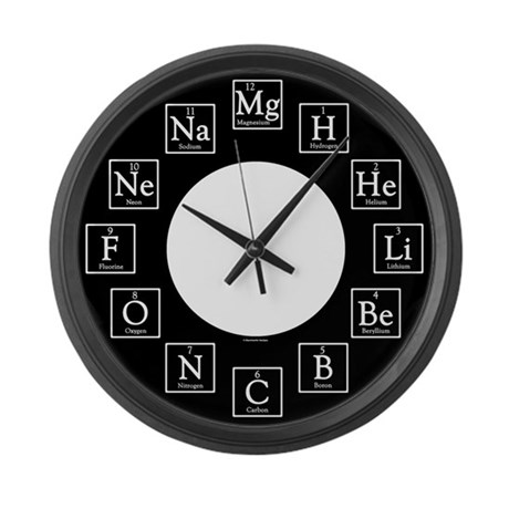 Cute Science Large Wall Clock