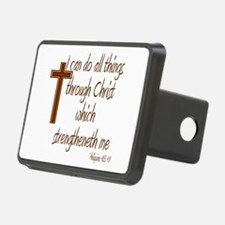 Philippians 4 13 Brown Cross Hitch Cover