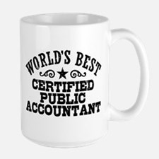 World's Best Certified Public Accountant Large Mug