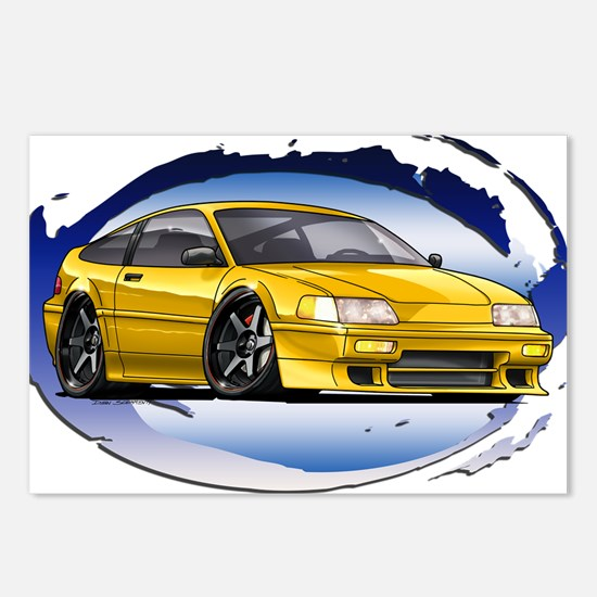 Yellow CRX Postcards (Package of 8)