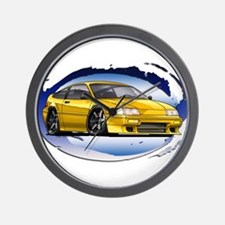 Yellow CRX Wall Clock