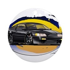 Black CRX Ornament (Round)