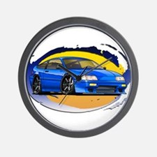 Blue CRX Wall Clock