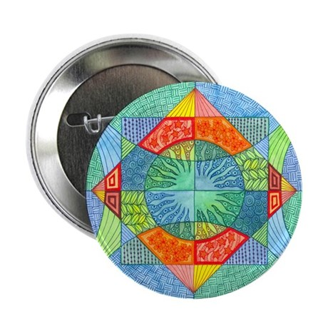 Sacred Geometry Watercolor Button