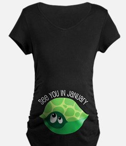 January Turtle Due Date Pregnancy T-Shirt