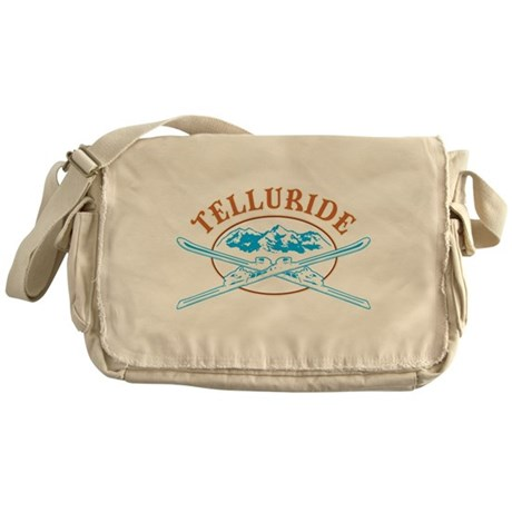Telluride Crossed-Skis Badge Messenger Bag