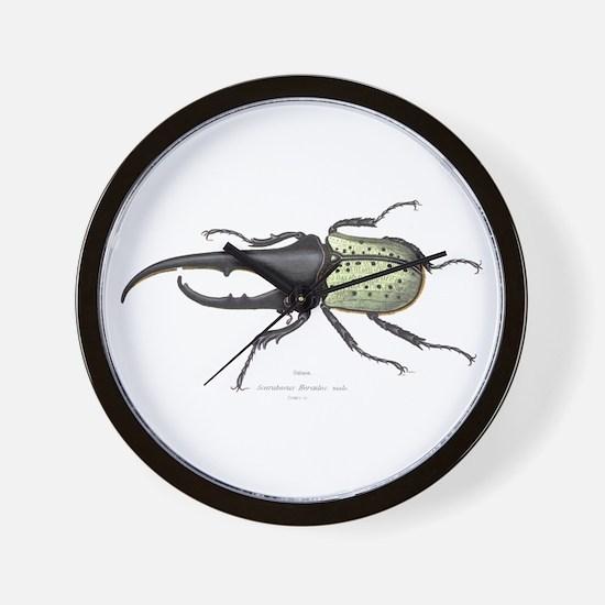 Scarab Hercules Beetle Wall Clock
