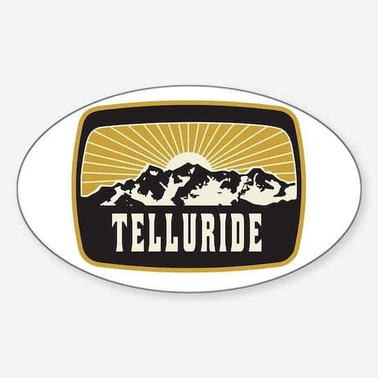 Telluride Sunshine Patch Sticker (Oval)
