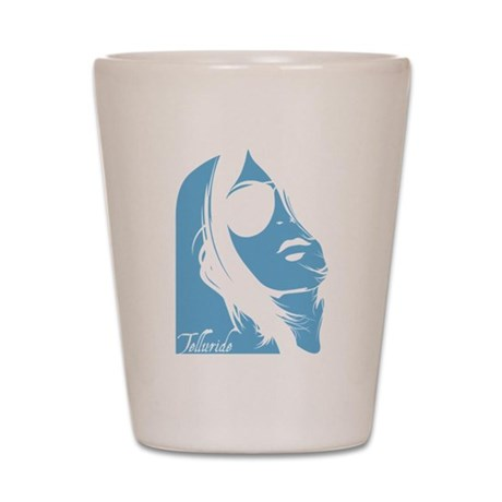 Telluride Lady Silhouette Shot Glass