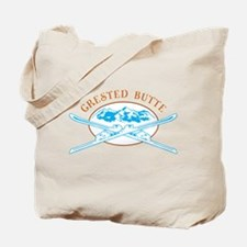 Crested Butte Crossed-Skis Badge Tote Bag