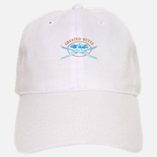 Crested Butte Crossed-Skis Badge Baseball Baseball Cap