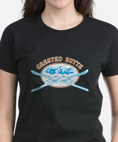 Crested Butte Crossed-Skis Badge Tee