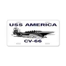 USS AMERICA CV-66 Aluminum License Plate