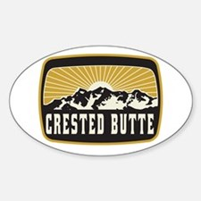 Crested Butte Sunshine Patch Decal
