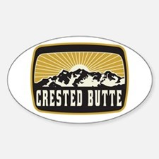 Crested Butte Sunshine Patch Sticker (Oval)