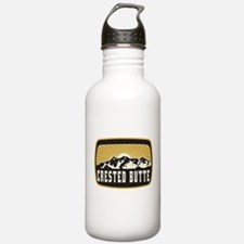 Crested Butte Sunshine Patch Sports Water Bottle