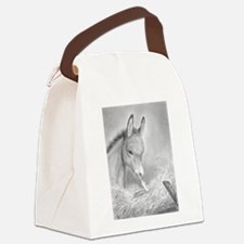 Baby Jesus Blessing Donkey ~ Canvas Lunch Bag