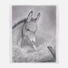 Baby Jesus Blessing Donkey ~ Throw Blanket