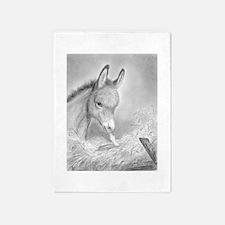 Baby Jesus Blessing Donkey ~ 5'x7'Area Rug