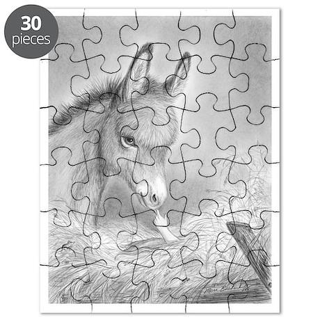 Baby Jesus Blessing Donkey ~ Puzzle