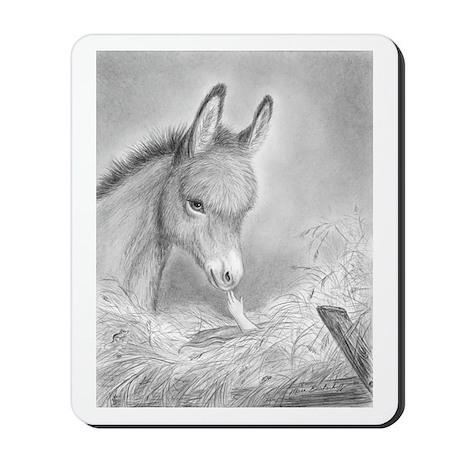 Baby Jesus Blessing Donkey ~ Mousepad