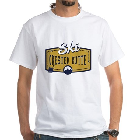 Ski Crested Butte Patch White T-Shirt