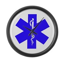 Unique Star of life Large Wall Clock