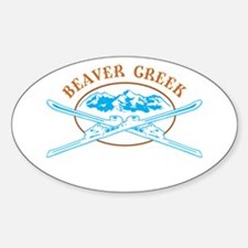 Beaver Creek Crossed-Skis Badge Decal