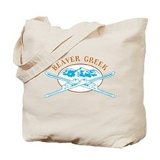 Beaver Creek Crossed-Skis Badge Tote Bag