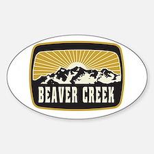 Beaver Creek Sunshine Patch Sticker (Oval)