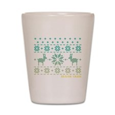 Beaver Creek Blue Winter Sweater Shot Glass