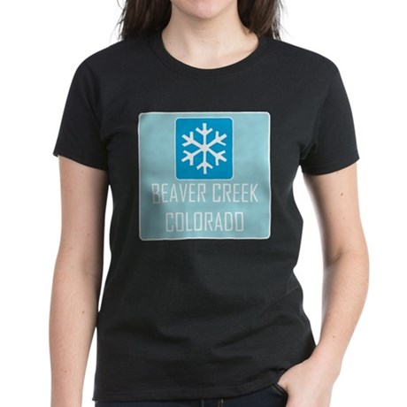 Beaver Creek Snowflake Women's Dark T-Shirt