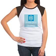 Beaver Creek Snowflake Women's Cap Sleeve T-Shirt